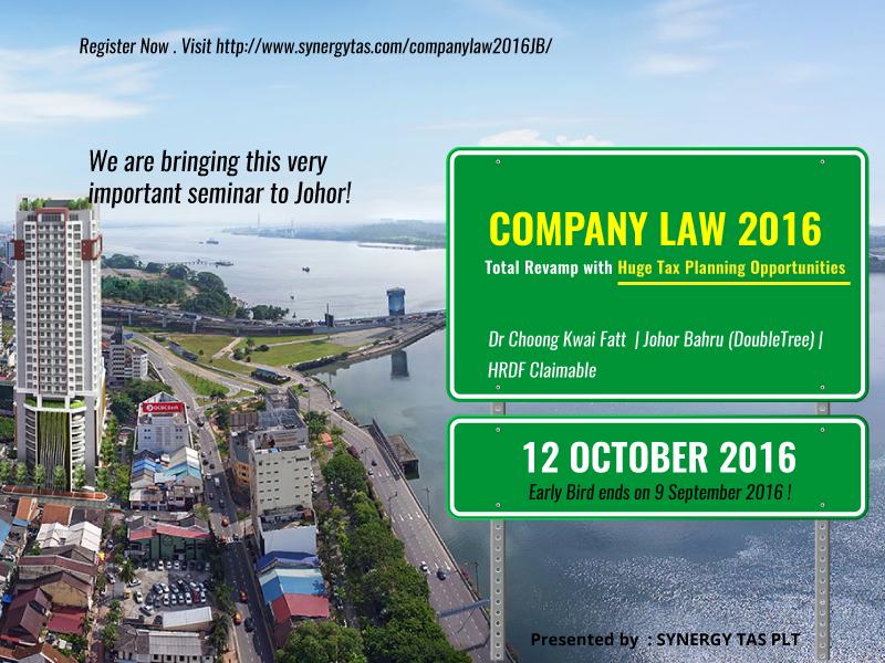 Company Law 2016 (Johor Bahru)