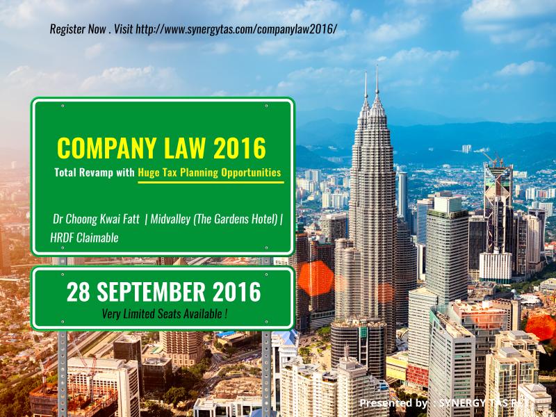 Company Law 2016 (Kuala Lumpur)