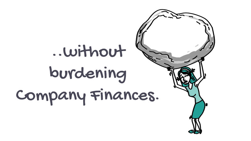 without burdening company finances